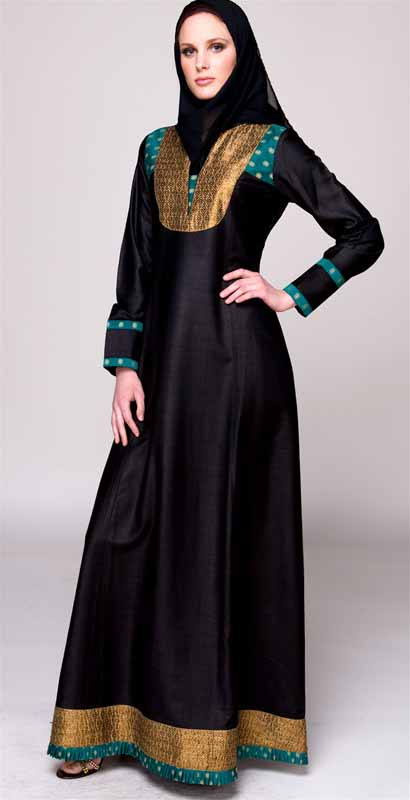 No little black dress, only glamourous design for Saudi women.